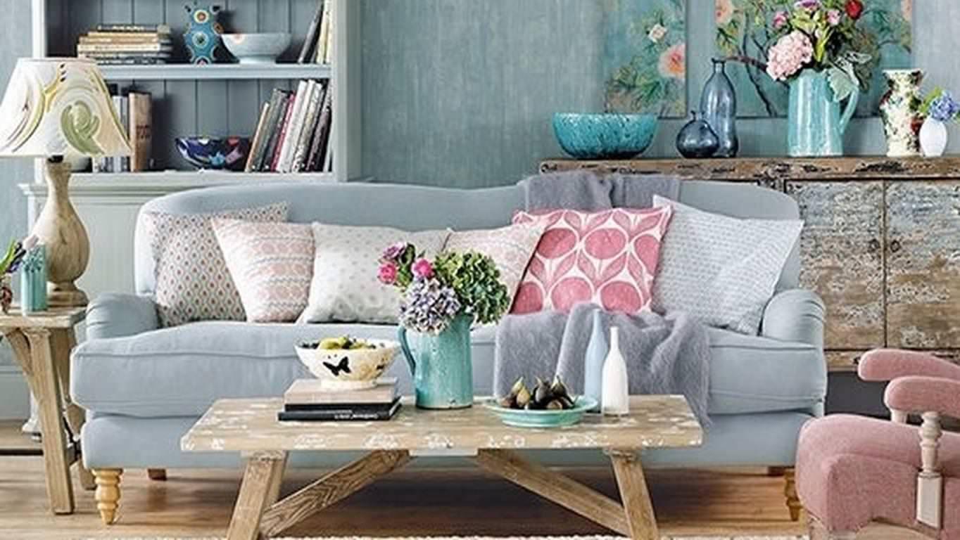 Sofa de estilo ingles azul